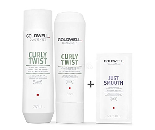 Goldwell Dualsenses Curly Twist Feuchtigkeits Set - Shampoo 250ml + Conditioner 200ml + Just Smooth Sachet