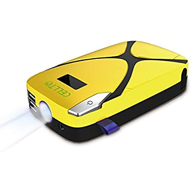 [Ultra Compact] Cellto Car Jump Starter and [Heavy Duty] Portable Smartphone Charger [Rechargeable] Power Bank with Surge Protection and LED Flashlight