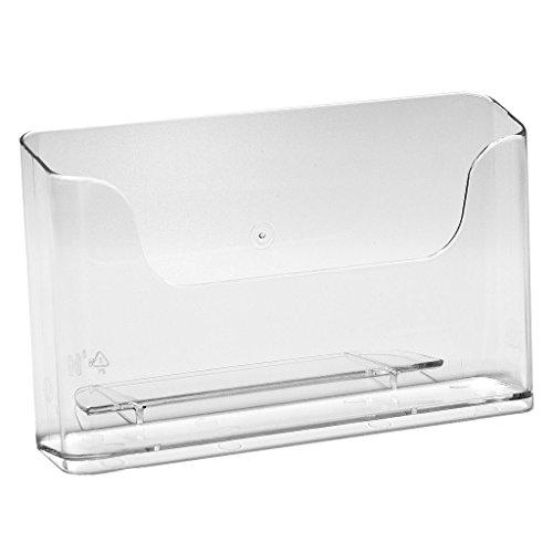 Expositor de mesa DIN A6, horizontal, 4 unidades, para folletos y folletos, transparente