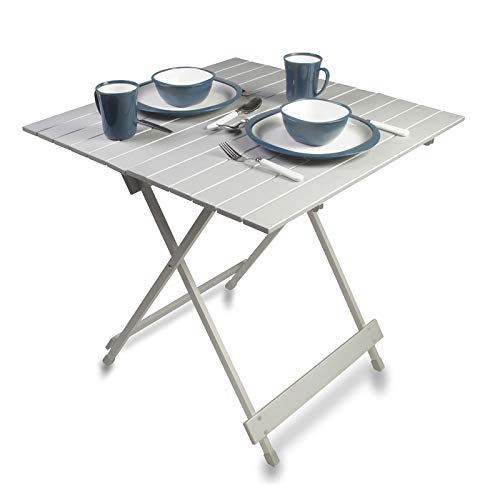 Kampa Leaf Folding Aluminium Slat Top Table (70 x 70 x 69cm high)