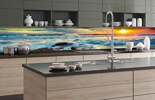 DIMEX Küchenrückwand Folie selbstklebend Sonnenuntergang 350 x 60 cm | Klebefolie - Dekofolie - Spritzschutz für Küche | Premium QUALITÄT