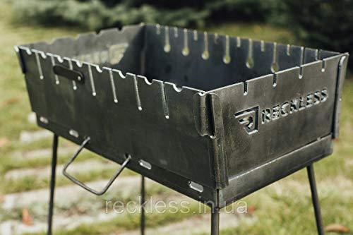 Mangal-Koffer KL-10/3 für 10 Spieße, 3 mm tragbar zum Schaschlik und Grillen Grill BBQ Set inkl. SCHÜRHAKEN