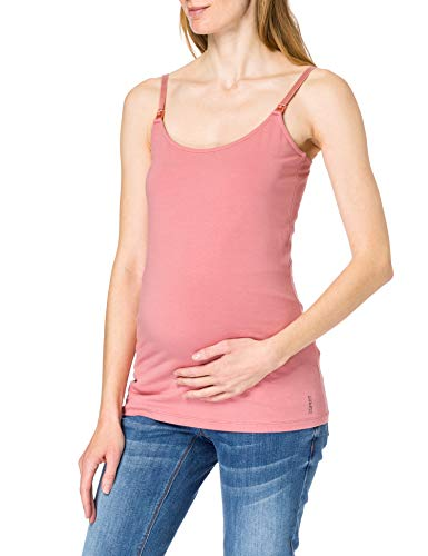 Esprit Maternity Spaghetti Top Nursing Camisa Cami, Rose Scent 663, M para Mujer