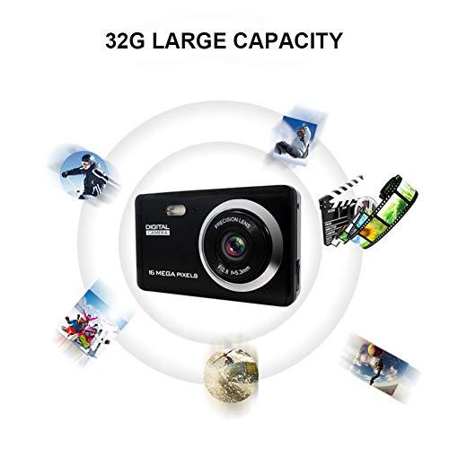WANGOFUN Digitale Camera Full HD 1080P CMOS Sensor TFT LCD Display Oplaadbare Eenvoudige Digitale Camera voor Familie Verzamelen/Reizen/Selfie/Vlogging