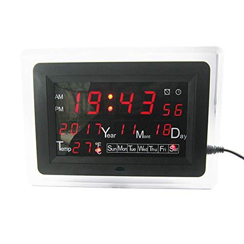 LJJOO Kit de Soldadura de Calendario electrónico DC9-12V Precisión DIY Kit de Reloj ECL-1227 12/24 Hora C/F Cambiable Componente electrónico (Color : Red)