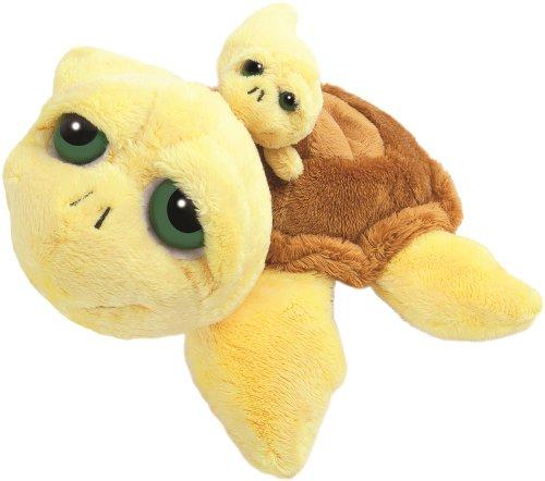 Li'l Peepers 14004 - Suki Plüschtier Schildkröte Pebbles mit Baby, 29.2 cm, gelb