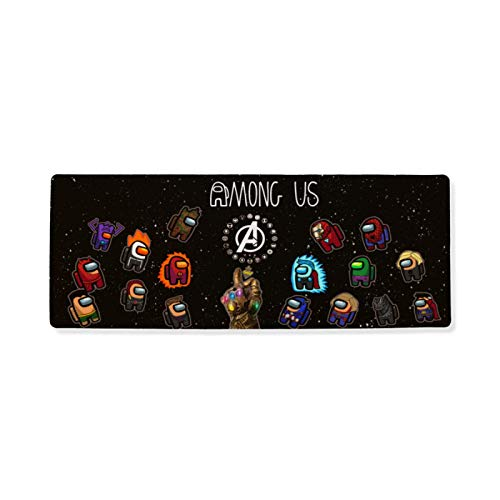 Among Us Large Gaming Mouse Pad Super Hero Durable Desk Protector for Office 17.74x35.43 Inch