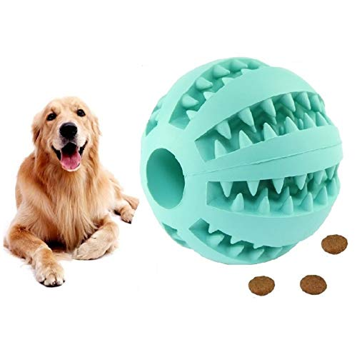 HESHPAWS Dog Toy Ball-IQ Treat Balls-Fun Interactive Food Dispensing Dog Toys-Non-Toxic Natural Rubber Tooth Cleaning Toys for Small Medium Large Dogs Teeth Cleaning and Chewing