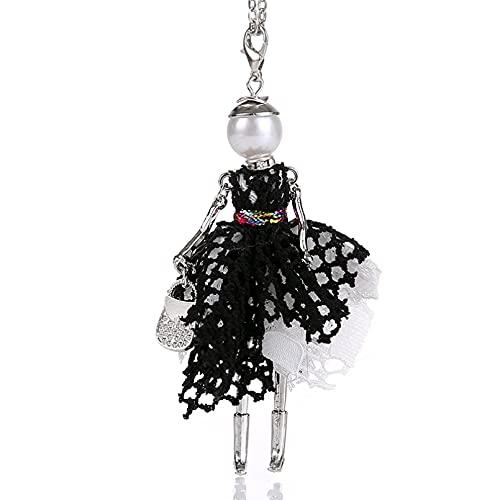 QiuYueShangMao Collar Colgante Colores Capas Vestido de Princesa Collar de Mujer Llamativo...