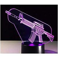 3Dイリュージョンナイトライト 武器の銃器 スマートタッチ キッズ3DLEDナイトライトファッション7色段階的に変化するスマートタッチスイッチUSBテーブルランプホリデークリスマスおもちゃギフト家の装飾