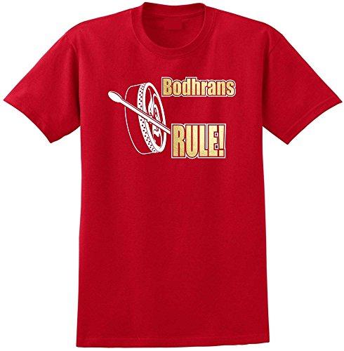 MusicaliTee Bodhran Rule - Red Rot T Shirt Größe 127cm 51in 3XL