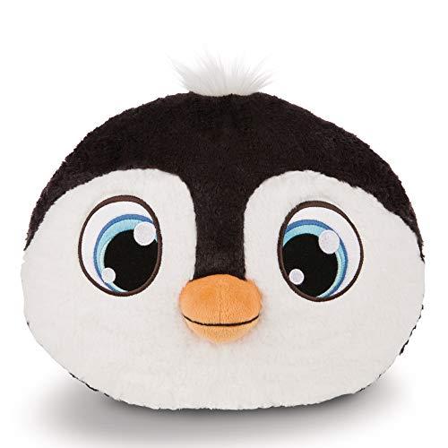 NICI Schlafmützen Pinguin Koosy, Kuscheltier Jungen, Mädchen & Babys, Flauschiges Kuschelkissen für Kinder ab 12 Monaten, Stofftier-Kissen I 43955, Schwarz, 30 x 25 cm