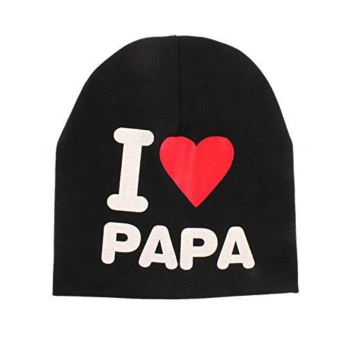 Loveble Kids Boy Girls Winter Warm Beanie J'aime Papa J'aime Le Chapeau à Capuche de Maman Multicolore pour 7 Mois et 3 Ans