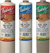 "Tara Materials Fredrix Medium Unprimed Cotton 75"" x6yard 7oz"