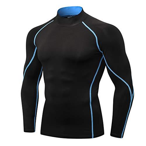RANTA 2020 Neujahr Herren Frühling Unter 5 Euro Kompressions-Shirt langärmlig Atmungsaktiv Funktionsshirts Baselayer Langarm für Laufen Jogging Sport Turnhalle