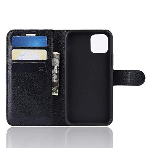Capa Capinha Carteira 360 Para Apple Iphone 11 Pro Max Tela De 6.5Polegadas Case Couro Flip Wallet - Danet (Preta)