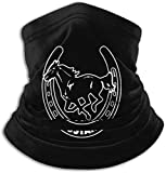 Halstuch/Kopftuch Mustang Horseshoe Neck Warmer Microfiber Headwear Face Scarf for Winter Cold Weather Keep Warm Unisex