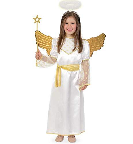 KarnevalsTeufel Kinderkostüm Goldengel Weihnachtskostüm, Engel, Engelchen, Weihnachtszauber (104)