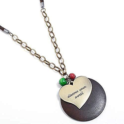 WLHLFL Halskette Mode Eopean und American Vintage Peach Heart Frauen S Halskette Cardigan.Geschenk