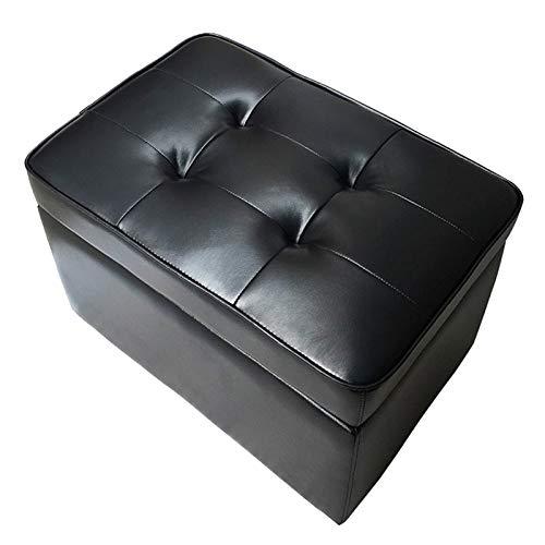 zhoufeng Kreative Lagerung Hocker Lagerhocker Leder kann auf menschlichem Lederhocker Sofa Fußhocker Sitzen Schuhwechselhocker Wohnzimmer Haushalt Lange Aufbewahrungsbehälter (Color : Brown)