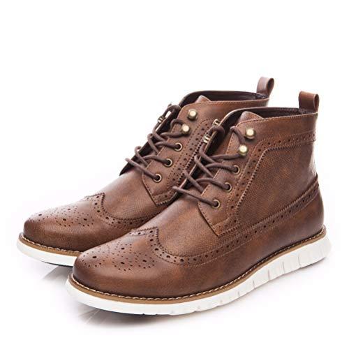 LBCD Botas de los Hombres Antideslizante al aire libre Trekking Senderismo Caminar Casual Zapatos de Hombre Martin Botas de Trabajo Zapatos de Tobillo Botas de Cuero 40