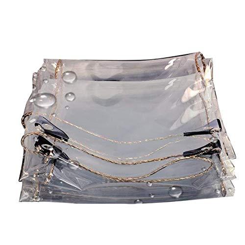KAISIMYS Cubierta de Mesa de Billar a Prueba de Sombra y Lluvia Lona Transparente, Bordes Reforzados con Lona Resistente al Agua, para Todas Las Estaciones y pondrá anticorrosión (Color: Transparente