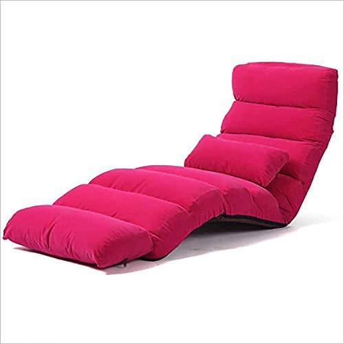 Lazy Sofa faul Sand Nichtstuer faltbare Einzelbett Rückenlehne Stuhl Balkon Wohnzimmer-Sofa-Stuhl Freizeit Reclinersofa Klappstuhl 8bayfa