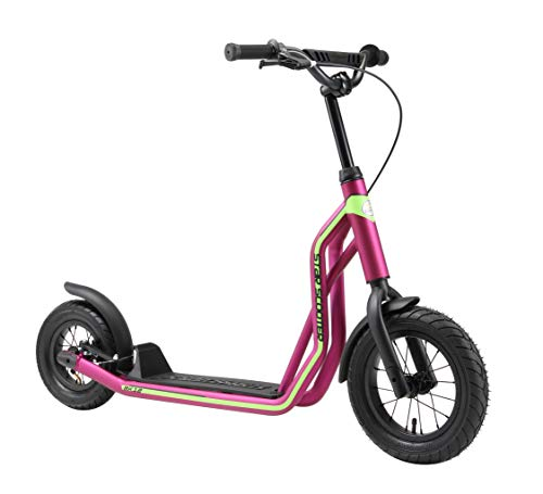 STAR SCOOTER Kinder Tret Roller ab 6-7 Jahre | 12/10 Zoll Mixed City Kick Scooter Luftreifen | Berry