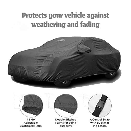 CARMATE Pride Custom Fitting Waterproof Car Body Cover for Honda City 2018 - Grey