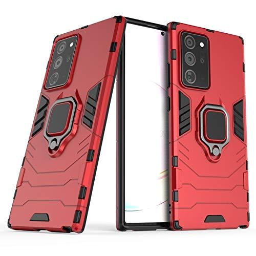 NANSHAN PHONETABLETCASE+ / for Samsung Galaxy Note 20 Ultra PC + Funda Protectora Anti-caída de TPU con Soporte de Anillo Protección de la Cubierta de la Cubierta a Prueba (Color : Rojo)