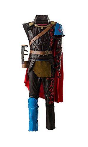 Thor 3 Ragnarok Thor Odinson Outfit Traje de Cosplay Disfraz Hombres XS