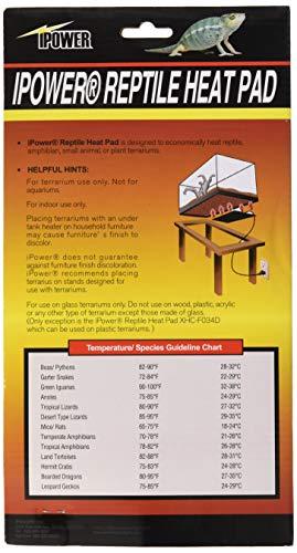 iPower 6 by 8-Inch 8 Watt Reptile Heat Pad Under Tank Terrarium Warmer Heat Mat for Small Animals