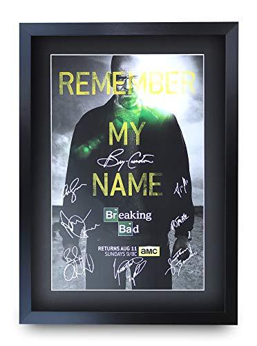 HWC Trading Breaking Bad A3 Gerahmte Signiert Gedruckt Autogramme Bild Druck-Fotoanzeige Geschenk Für Tv-Show-Fans