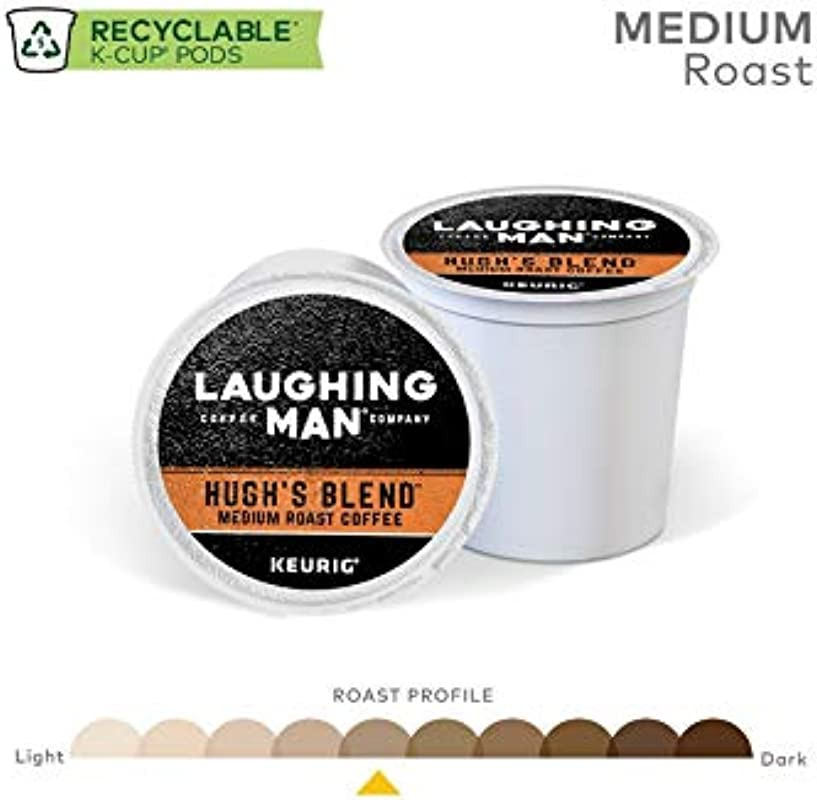 Laughing Man Coffee Company Hugh S Blend K Cups 54 Count