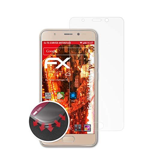 atFolix Schutzfolie kompatibel mit Wiko U Feel Prime Folie, entspiegelnde & Flexible FX Bildschirmschutzfolie (3X)