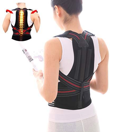 Back Brace Posture Corrector Under Clothes Men & Women, Lumbar Support Shoulder Straightener Orthopedic Corrective Improve Device, Lower Upper Back Pain Relief, Adjustable Elastic Straps