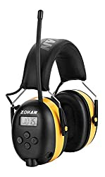 top rated ZOHAN EM042 AM / FM radio headphones, digital display, hearing protection, noise suppression, hearing protection … 2021