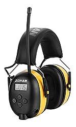 top 10 radio work headphones ZOHAN EM042 AM / FM Radio headphones, digital display, hearing protection, noise suppression, hearing protection …