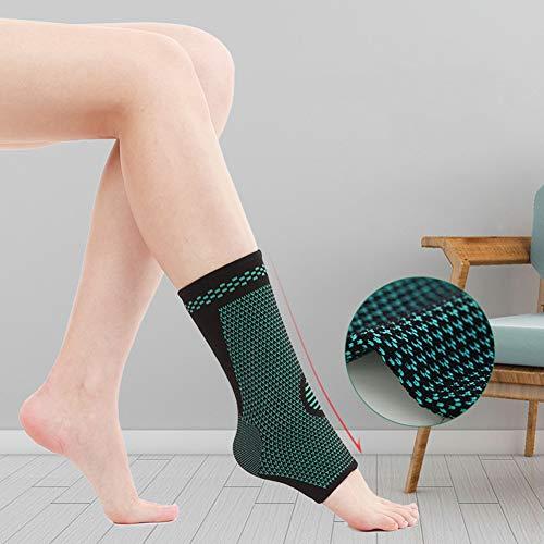 Bbl345dLlo - Tobillera ajustable para hombres y mujeres, para deportes de gimnasio, tobillera tobillera de nailon suave