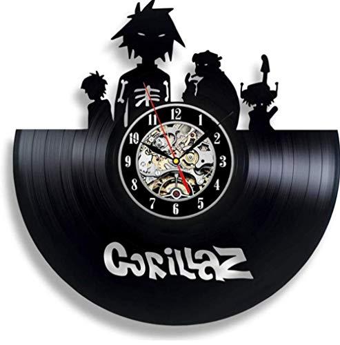 Grocery Gorillaz Reloj de Pared con Registro de Vinilo para