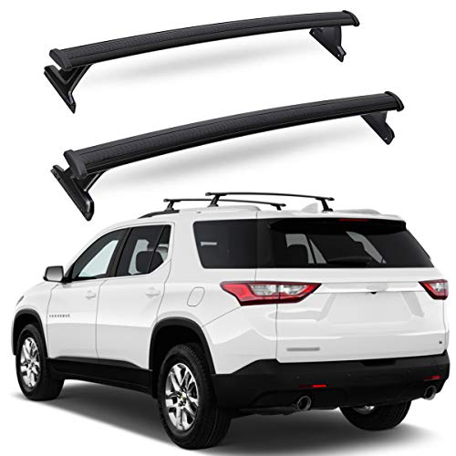 ANTS PART Roof Racks Cross Bars for 2018-2021 Chevy Chevrolet Traverse Cargo Luggage Carrier Black