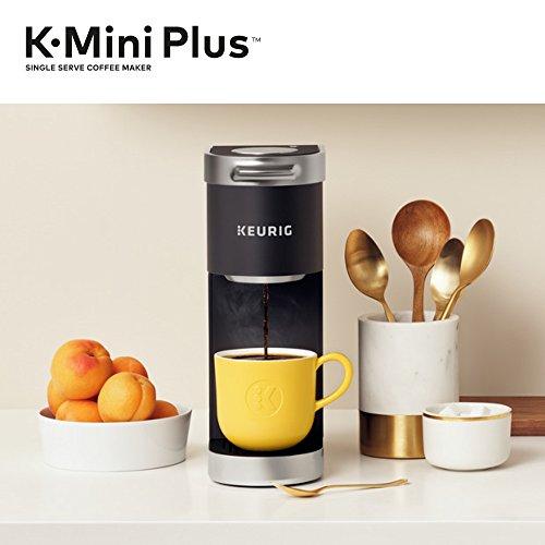 Keurig K-Mini Plus Coffee Maker, Single Serve K-Cup Pod Coffee Brewer, Comes With 6 to 12 Oz. Brew Size, K-Cup Pod Storage, and Travel Mug Friendly, Black