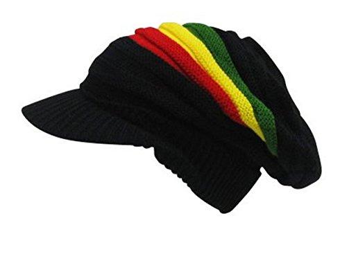 UD Accessories Bonnet rasta Noir Taille unique