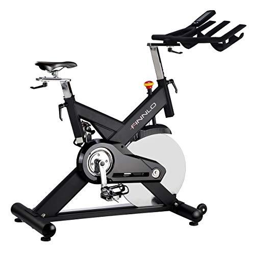 HAMMER Finnlo Speedbike CRS3, Indoor Cycle, 22 kg Schwungmasse, bis zu 150 kg belastbar, Multifunktionslenker, LCD-Monitor, Fitness-App, Smartphone-Halterung inklusive