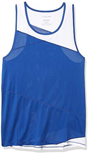 ASICS Camiseta sin mangas Gunlap para hombre, Hombre, Camiseta de tirantes anchos, #REF!, azul y blanco, XXL