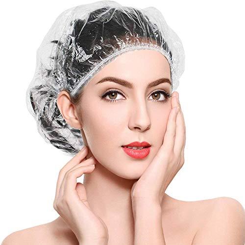 FSGD 200 Pcs Bonnet de Douche, Baignoire élastique épais Cheveux Cap pour Les Femmes Spa, Accueil Utilisation, hôtel et Salon de Coiffure