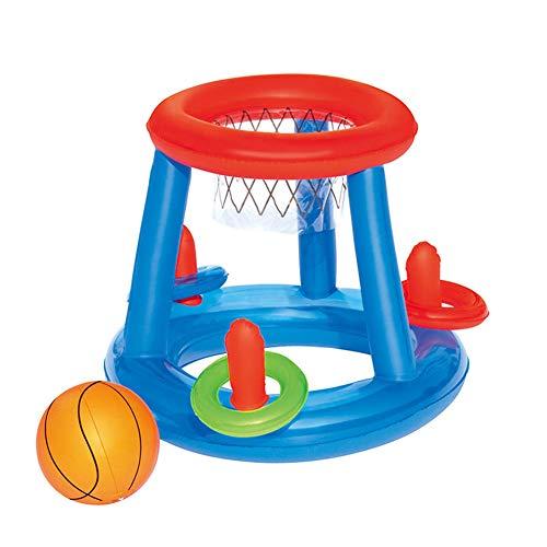 Juego de bolas de piscina ZQDL, juego de bolas de piscina inflables con red y pelota, para piscina, juego de bolas flotantes para adultos y niños