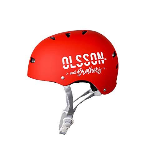 Olsson Capacete para Jr Vermelho M/L