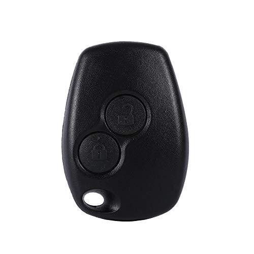Qiilu Porte-clés 2 boutons, Télécommande 2 boutons Auto Car Key Fob Shell Cover Case pour Kangoo Modus Master