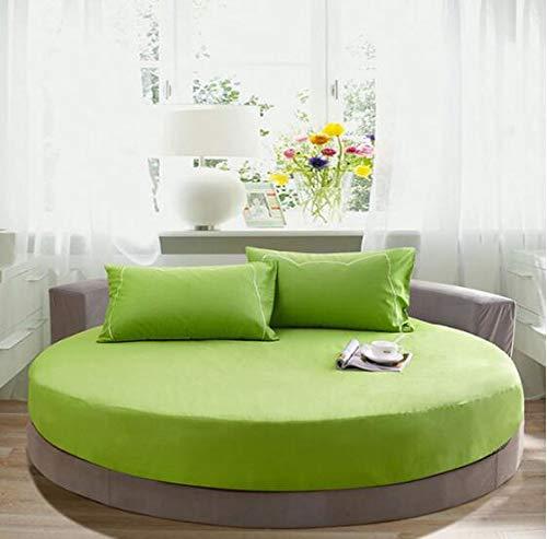 Mhtop 3-teiliges Set aus runden Laken aus 100% Baumwolle, europäischen einfarbigen...